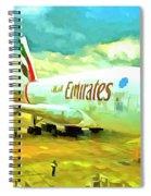 Emirates A380 Airbus Pop Art Spiral Notebook