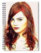 Emma Stone Portrait Colored Pencil Spiral Notebook