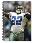 Emmitt Smith, Number 22, Running Back, Dallas Cowboys Spiral Notebook