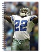 Emmitt Smith, Number 22, Running Back, Dallas Cowboys Spiral Notebook
