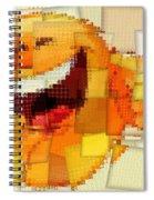 Emoticon Mosaic Cubism Spiral Notebook