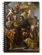 Emperor Charles Vi And Gundacker, Count Althann Spiral Notebook