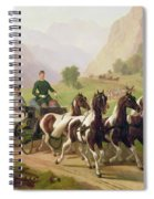 Emperor Franz Joseph I Of Austria Being Driven In His Carriage With His Wife Elizabeth Of Bavaria I Spiral Notebook