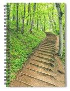 Empire Bluffs Trail Steps In Michigan Spiral Notebook