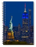 Empire State And Statue Of Liberty II Spiral Notebook