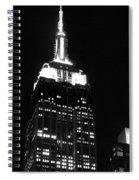 Empire State B W  Spiral Notebook