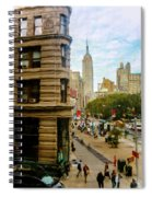 Empire State Building - Crackled View Spiral Notebook
