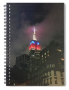 Empire State Building In The Fog Spiral Notebook