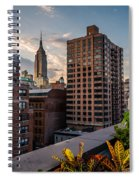 Empire State Building Sunset Rooftop Garden Spiral Notebook