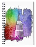 Empire State Of Mind Cool Rainbow 3 Dimensional Spiral Notebook