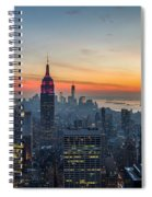 Empire State Sunset Spiral Notebook