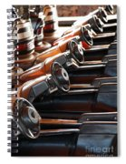 Empty Aligned Bumper Cars Spiral Notebook
