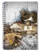 Empty Bottles And Discarded Pants Spiral Notebook