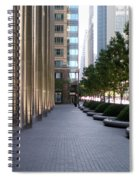 Empty Chicago Sidewalk Spiral Notebook