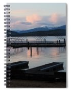 Empty Docks On Priest Lake Spiral Notebook