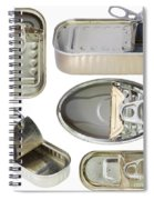 Empty Old Tin Cans Spiral Notebook