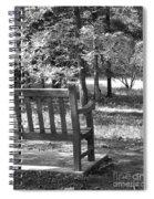 Empty Park Bench Spiral Notebook