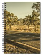 Empty Regional Australia Road Spiral Notebook