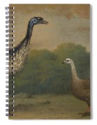Emu, Cape Barren Goose And Magpie Goose Spiral Notebook