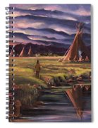 Encampment At Dusk Spiral Notebook