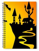 Enchanted Castle Over The Zombies Cemetery In Halloween Night Spiral Notebook