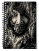 Enchanted Concept Black And White Spiral Notebook