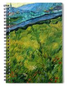 Enclosed Wheat Field With Rising Sun, By Vincent Van Gogh, 1889, Spiral Notebook