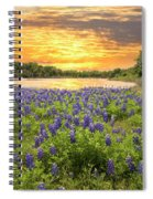 End Of A Bluebonnet Day Spiral Notebook