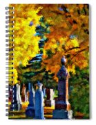 End Of The Road Impasto Spiral Notebook