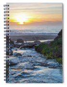 End Of The Road - Creek Runs Into Pacific Ocean At Big Sur Spiral Notebook