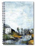 End Of Winter - Acrylic Landscape Painting On Cotton Canvas Spiral Notebook