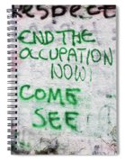 End The Occupation Now Spiral Notebook