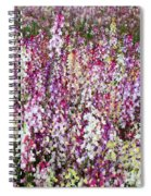 Endless Field Of Flowers Spiral Notebook