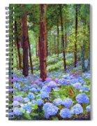 Endless Summer Blue Hydrangeas Spiral Notebook