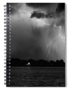 Energy Black And White Spiral Notebook