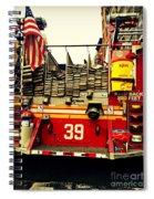 Engine 39 - New York City Fire Truck Spiral Notebook