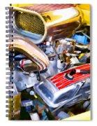 Engine Compartment 5 Spiral Notebook