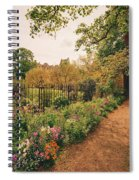 England - Country Garden And Flowers Spiral Notebook