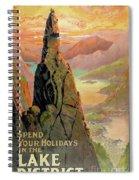 England Lake District Vintage Travel Poster Spiral Notebook