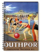 England Southport Restored Vintage Travel Poster Spiral Notebook
