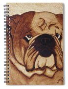 English Bulldog Coffee Painting Spiral Notebook
