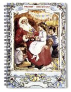 English Christmas Card Spiral Notebook