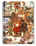 English Christmas Cards Spiral Notebook