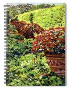 English Flower Pots Spiral Notebook