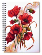 English Poppies 2 Spiral Notebook