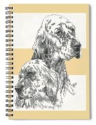 English Setter And Pup Spiral Notebook