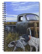 English Setters With Old Truck Spiral Notebook