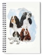 English Springer Spaniel W/ghost Spiral Notebook