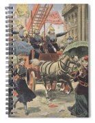 English Suffragettes Dressed As Firemen Spiral Notebook
