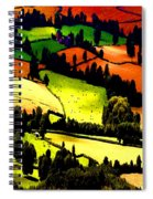 English Summer Fields Spiral Notebook